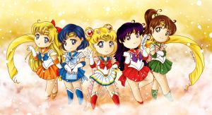 Chibi Sailor Inner Senshi by Ethevian