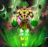 Broly By Vassago Coloured By ShabaazKhan by ShabaazKhan