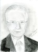 Wolf Blitzer Pencil Sketch by WibbitGuy