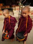 Pair of Young Buddhist Monks in Kengtung, Myanmar, by vanfoto