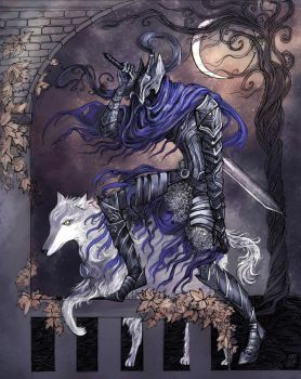 Sir Artorias and Sif by La-Chapeliere-Folle