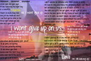 I Wont Give Up by littlemissnegativity