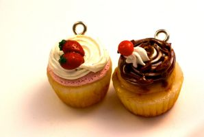 Polymer Clay Cupcake Charms by TooGoodToEat