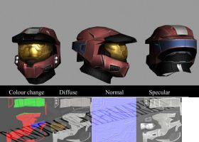 Mark VI helm retexture WIP1 by Robotlouisstevenson