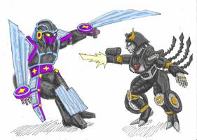 Nightbird VS Shadeninja by LovgrenO