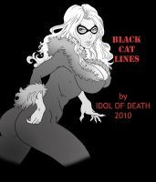 Black Cat BnW by IdolofDeath by IDOLofDEATH