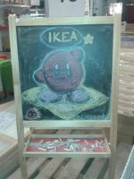 Kirby in Ikea~ by clariecandy