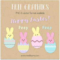 Vector and PNG Easter Graphics Free! by SunnyFunLane