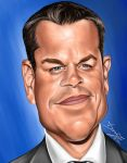 Matt Damon Caricature by DarDesign