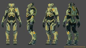 Alien Pilot Armor 3D by icedestroyer