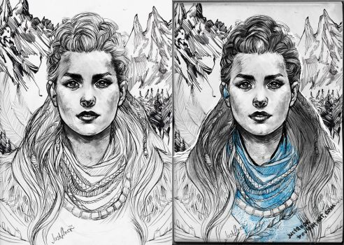 Aloy sketchbook by JustAnoR