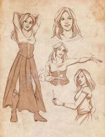 Commission 136 - Miranda sketchpage by Nike-93