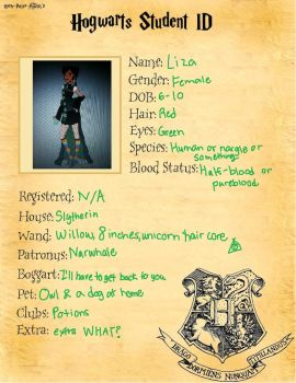 deviant AND Hogwarts ID by LuckyLiza2