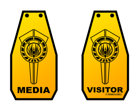 BSG media and visitor pass by tibots