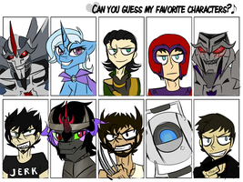 Fave Chars Meme by astrequin