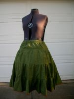 Green skirt with petticoat 2 by Nerds-and-Corsets