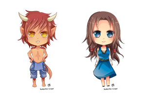 -- Chibi commissions for HeroSagas -- by Kurama-chan