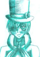 Ciel Phantomhive [sketch in 15 minutes] by CranberryMint