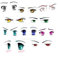 10 styles of manga eyes by BillieKlemm