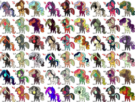Huge Batch Small Pony Adopts 1 - SEE DESCRIPTION by BR0KENP0NIES