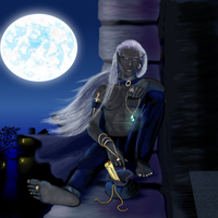 Dzzirtnafein the drow thief by littlegoblet