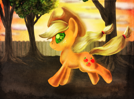 AJ running into the sun by Buizel149