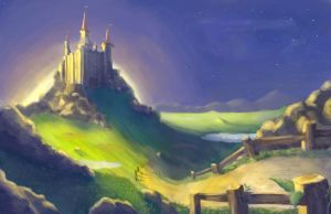 Castle at a Distance by BadLuckArt