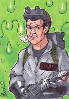 Sketch Card 209 - Ray Stantz by destinyhelix