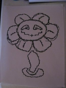 Quick Flowey Sketch by LightPhyre