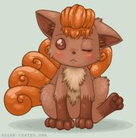 Vulpix. Even Cuter. by sugar0coated
