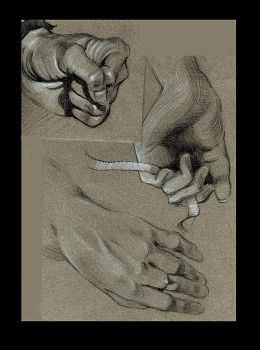 A Study Page of Hands. by SensualArt