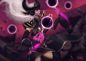 League of Legends : Syndra Fanart by JasonCSY