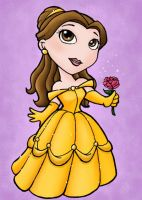 Belle Chibi - ACEO by NikkiWardArt