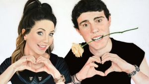 Zalfie Drawing Zoella and Pointlessblog by DMartIT