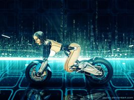 Girl-o-cycle by Jaclav