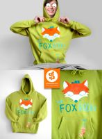 The Fox Rocks Hoodie by Bobsmade