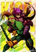 Kick-ass n' Hitgirl by emmshin