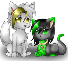 stell y gwen-animal chibi by bachadark93