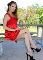Red Dress by Silendra