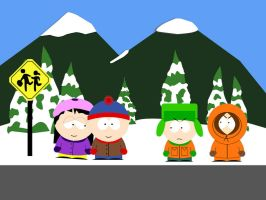 South Park: Stan, Wendy, Kyle by biohazard1379