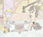 H.B. and Derpy - Teatime by BarryFromMars