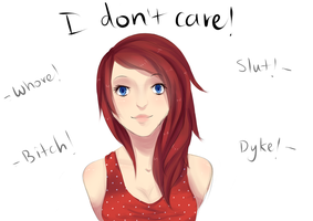 I DON'T CARE! by GemmilyArt