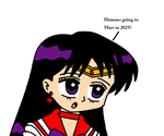 Sailor Mars reaction to Humans in Mars in 2025 by MarcosPower1996