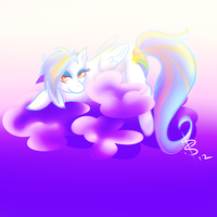Comet in the Clouds by MizzSnow
