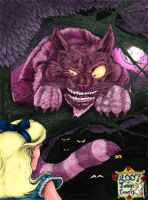 Alice and the Cheshire Cat by Ederoi
