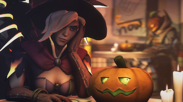 [SFM Overwatch]- Mercy and...Happy Halloween? by Dafomin