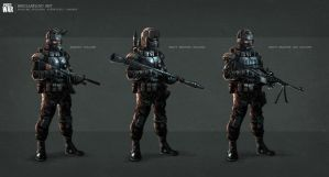 Russian soldiers  futuristic concept by badillafloyd