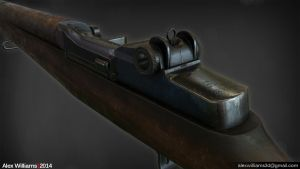 Lowpoly M1 Garand Rifle by LivewireDeviant