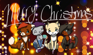 Merry Christmas from the gang by CrystalRaven98