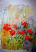 Poppies by lapoall by TraditionalArt
